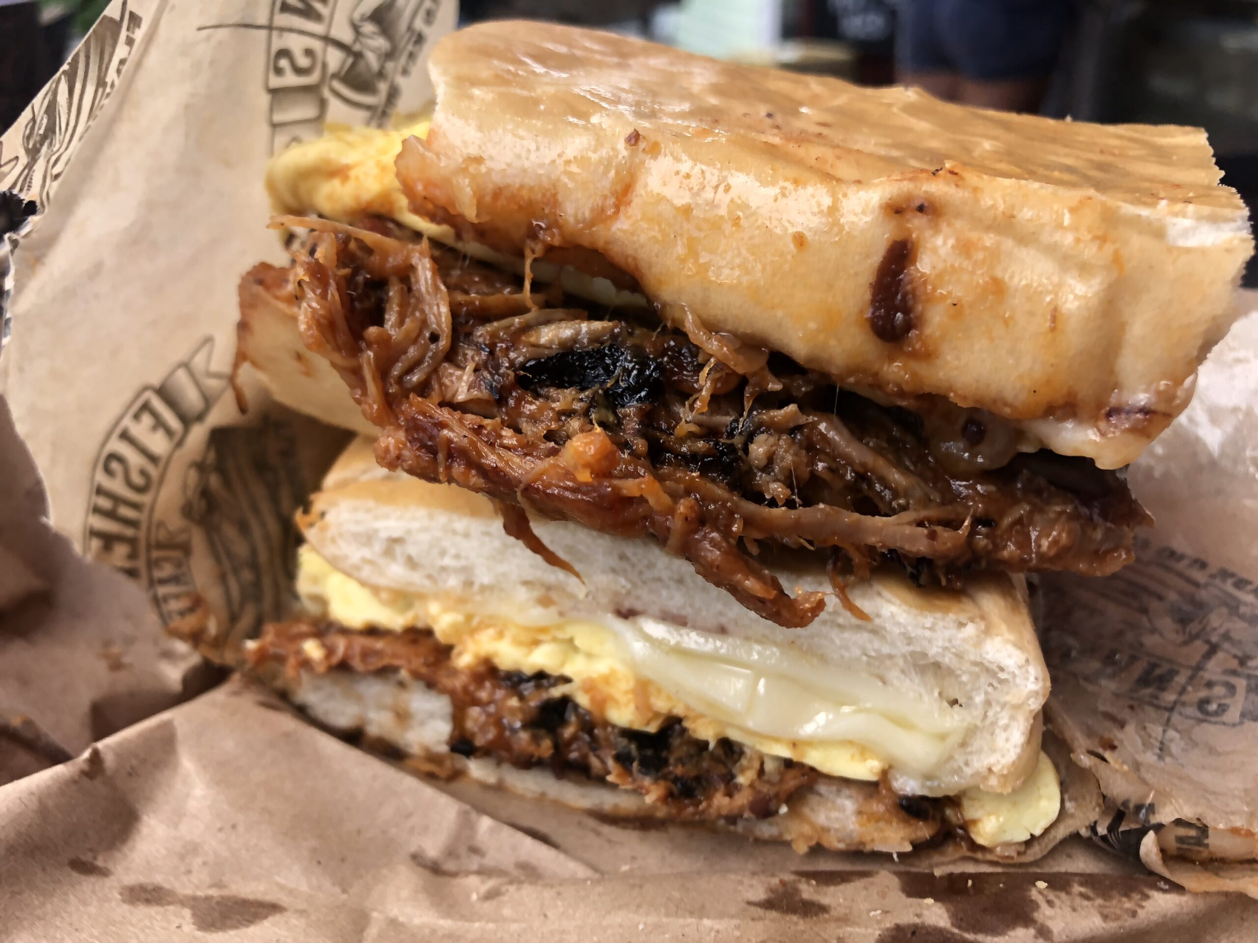 This pork-packed Key West Cubano breakfast sandwich is la bomba!