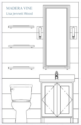 Hall Bath Elevation 2 MV
