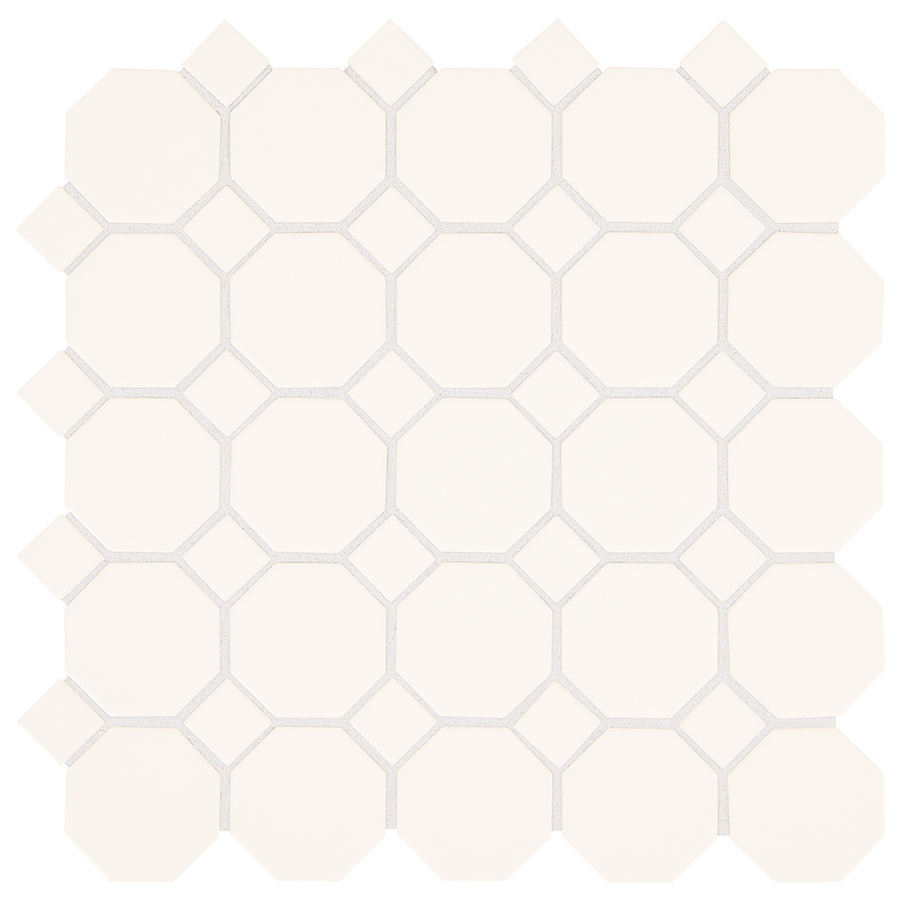 White Matte Honeycome Porcelain Mosaic