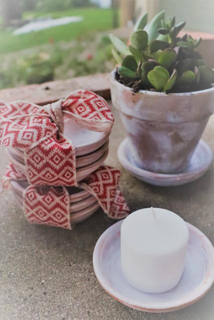 Rustic Shimmer Pots