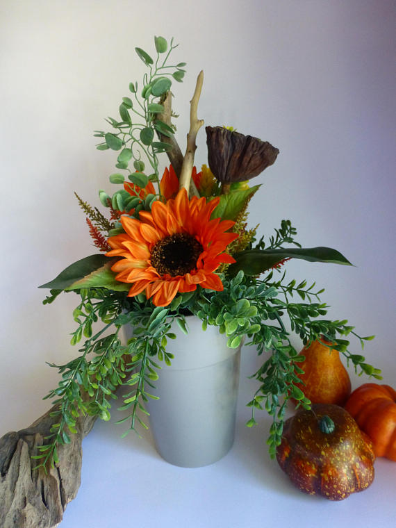 fall decor, flower arrangment, etsy