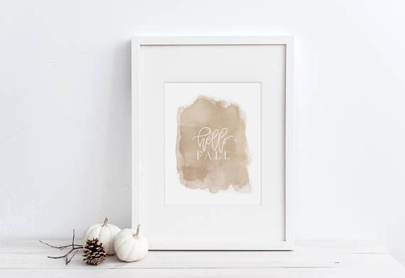 printable, fall decor, etsy