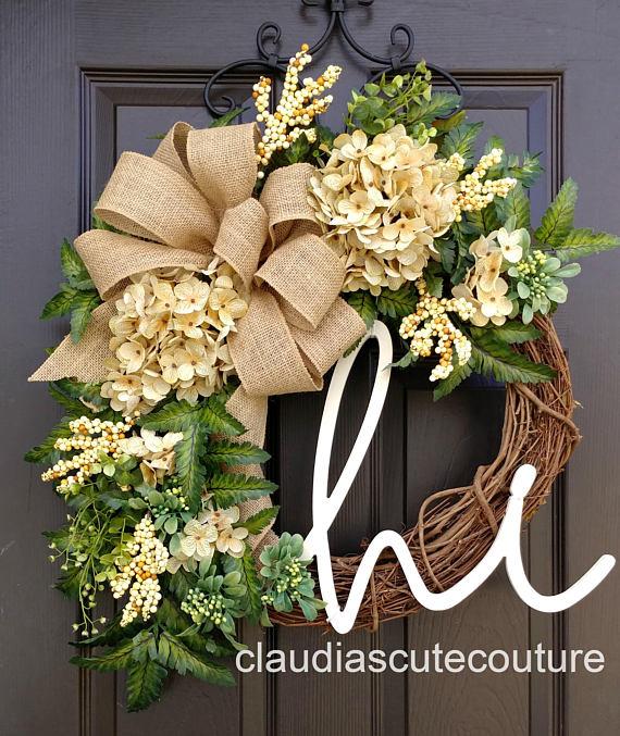 fall wreath, claudias cute couture, etsy, grapevine wreath