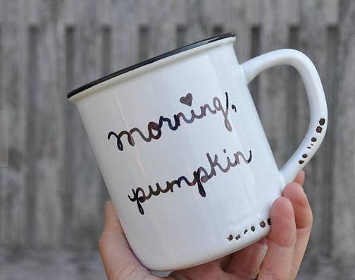 Morning pumpkin, coffee mug, Etsy, bwiandco