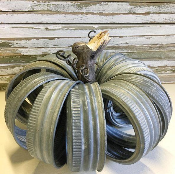 Diy pumpkin, mason jar lids, Inspired Home Style