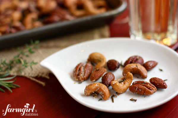 Spiced Rosemary & Thyme Nuts, A Farmgirls Dabbles