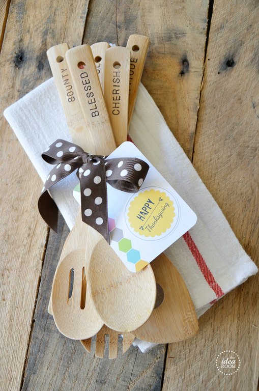 Hand Stamped Wooden Utencils, The Idea Room