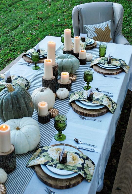 Tablescape, The White Buffalo Sytling Co, Fall table setting