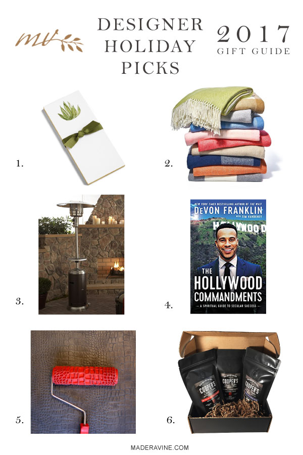 Designer Holiday Picks Gift Guide 2017