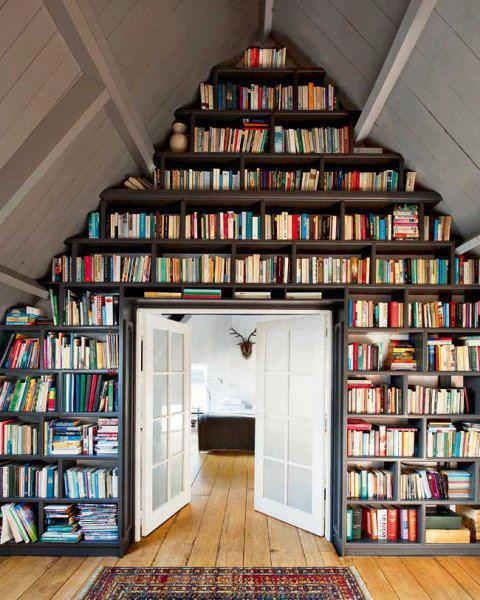 Attic Wall Bookshelf