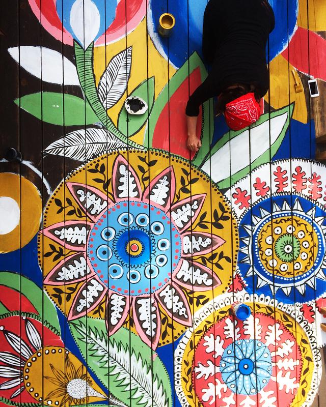 Alisa Burke painted deck details
