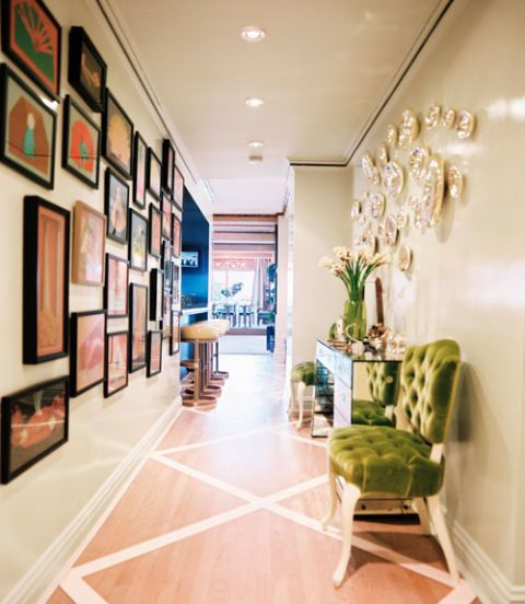 House Beautiful: Celerie Kemble painted wood floor