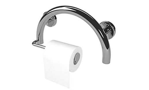 Lifeline Toilet Paper Holder Grab Bar – Bathroom Mobility Aid | Semi-Sphere