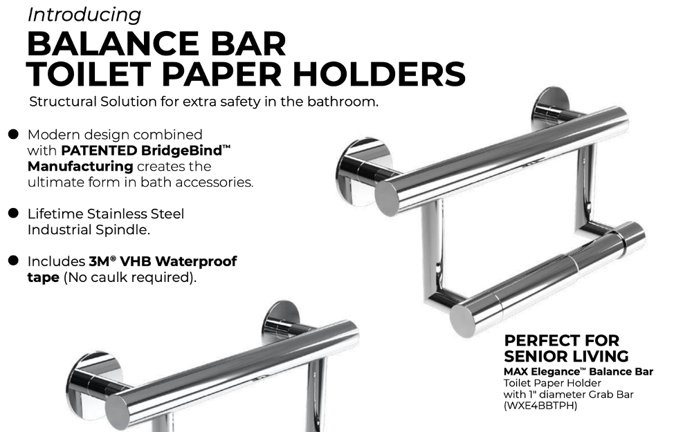 Wingits Balance Bar Toilet Paper Holder