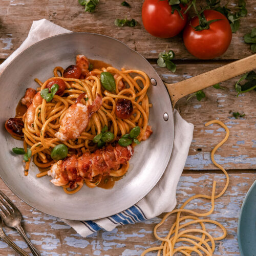 Lobster Pasta - Full table