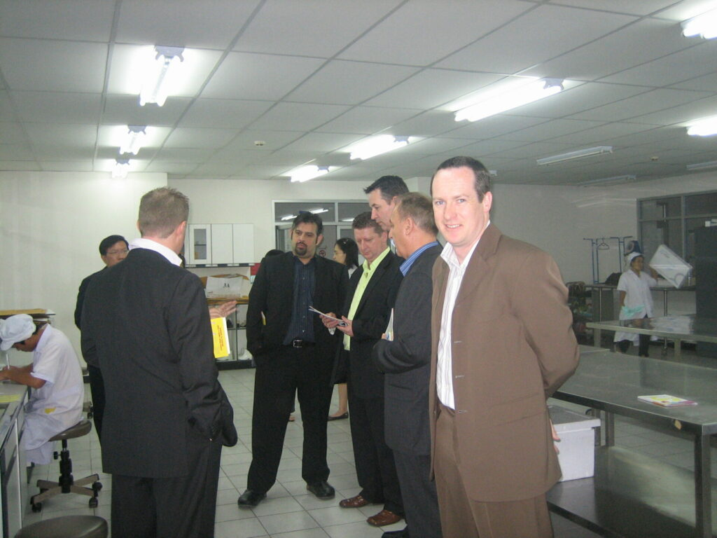 Chefs Inspect Testing Facilities