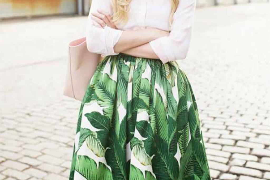 Banana Leaf Prints skirt