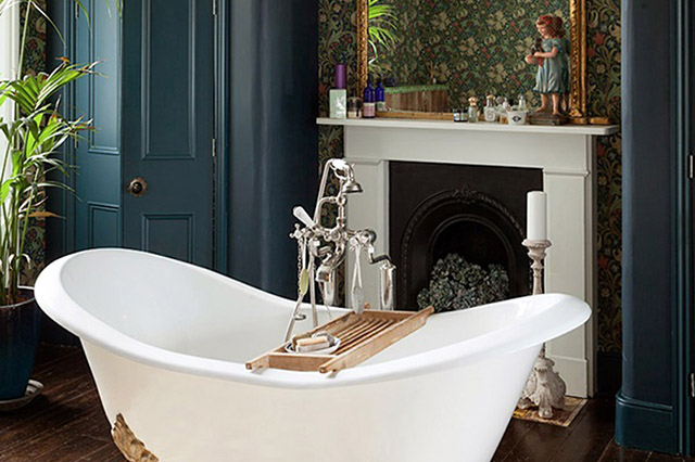 Clawfoot Tub, Interior Design Inspiration Image on Summer Thornton Design