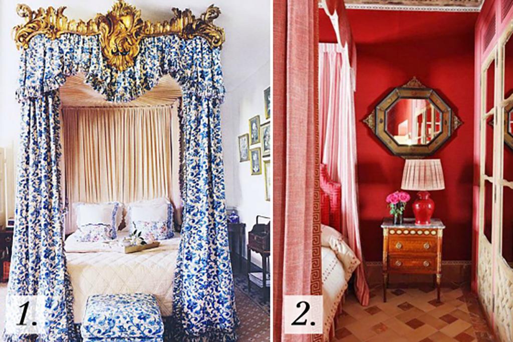 Colorful Canopy Beds, Interior Design Inspiration Image on Summer Thornton Design