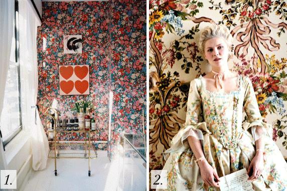 Bold Gorgeous Wallpaper, Kirsten Dunst Marie Antoinette, Interior Design Inspiration Image On Summer Thornton Design