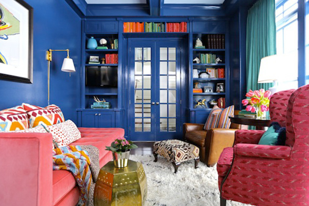 Color Crush Cobalt and White, Interior Design by Summer Thornton Design