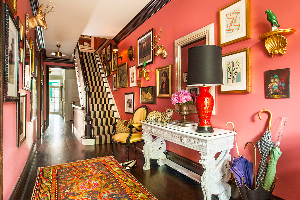 Color Love: Coral, Gold and Black, Interior Design by Summer Thornton Design