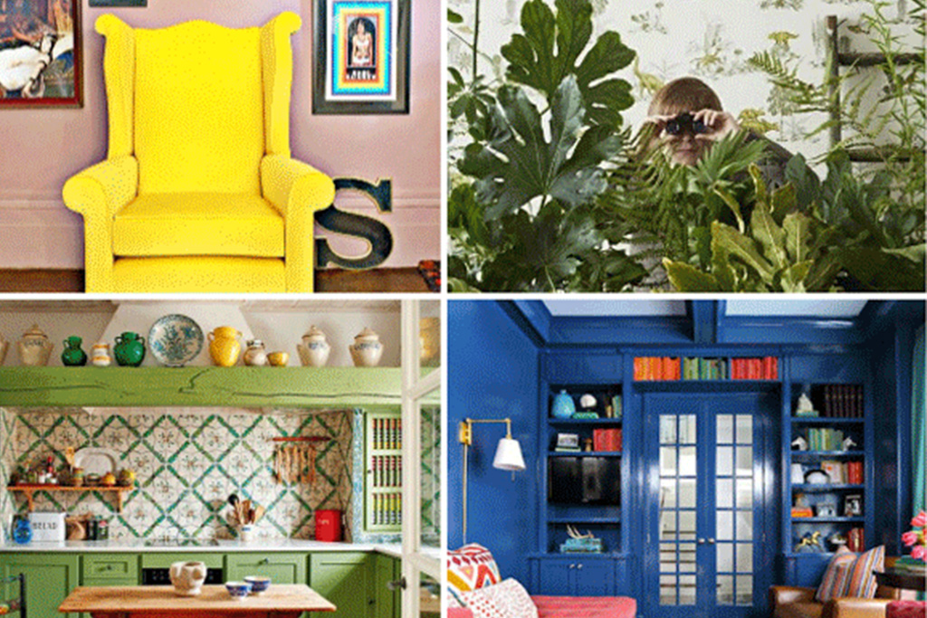 Wes Anderson decor inspiration, Interior design inspiration image on Summer Thornton Design