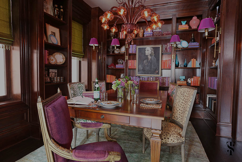 Lincoln Park Vintage, Wood Paneled Dining Room, Interior Design by Summer Thornton Design