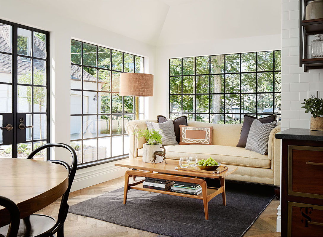 Country Club Tudor, Steel Frame Windows, Interior Design By Summer Thornton Design