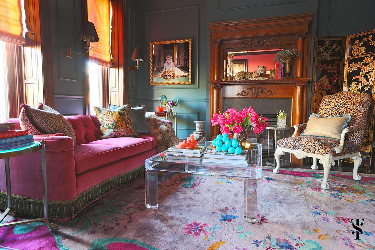 Lincoln Park Vintage, Kitchen, Living Room, Leopard Print, Interior Design by Summer Thornton