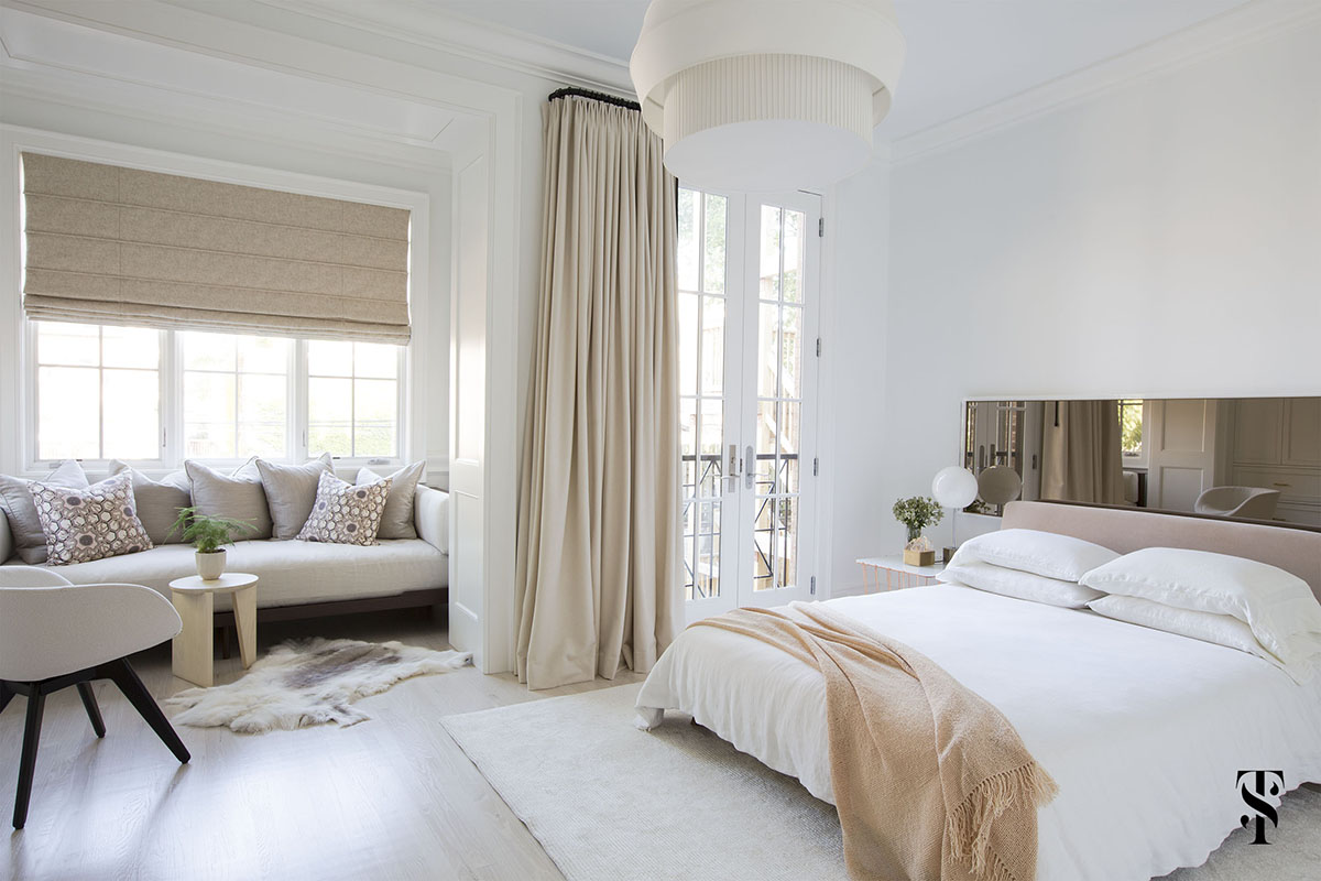 Lincoln Park Modern, Neutral Master Bedroom, Interior Design by Summer Thornton Design