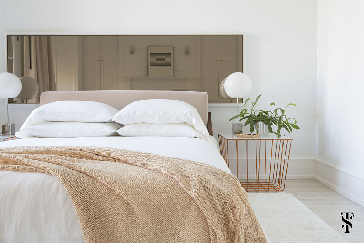 Lincoln Park Modern, Neutral Master Bedroom, Interior Design by Summer Thornton Design