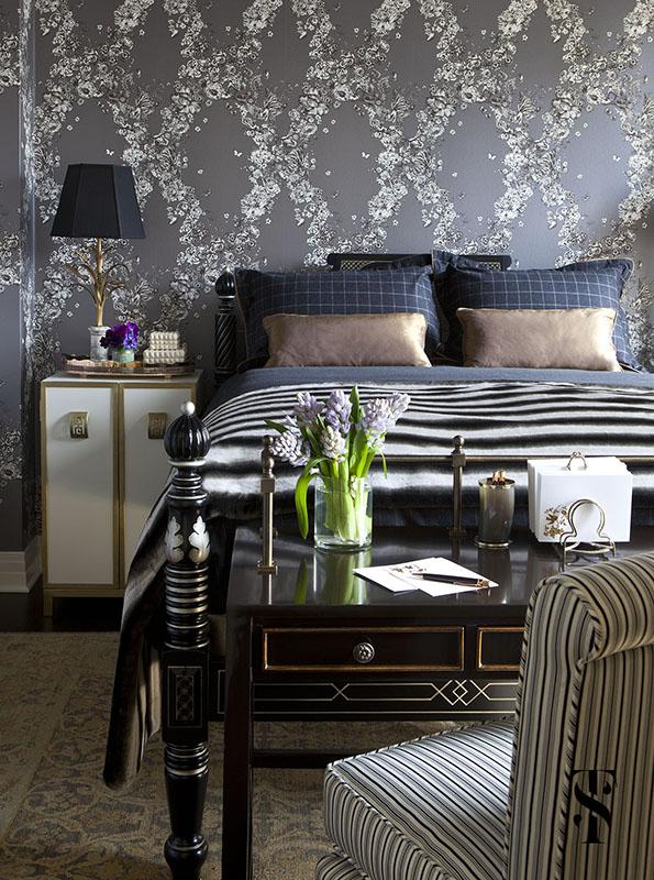 Palmolive Penthouse, Bedroom, Interior Design by Summer Thornton Design