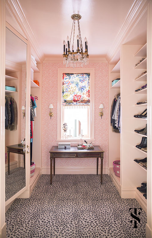 Blush Closet interior design by Summer Thornton Design