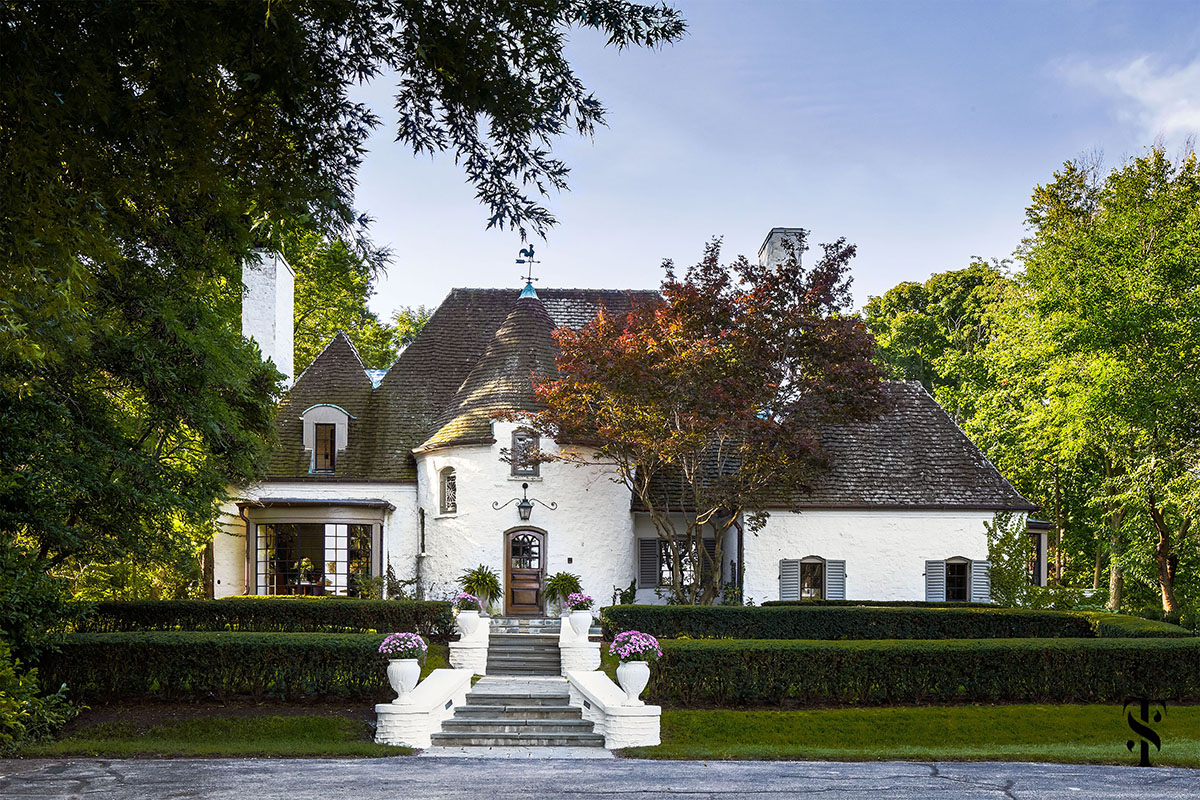 Country Club, French Tudor Exterior, Interior Design by Summer Thornton Design