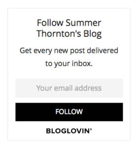 follow summer thornton on bloglovin'