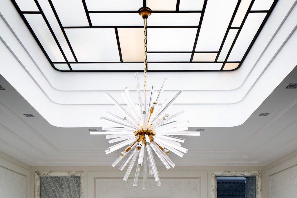 Ekaterina Fedorchenko, penthouse Ostozhenka, Russia, decorative modern ceiling.