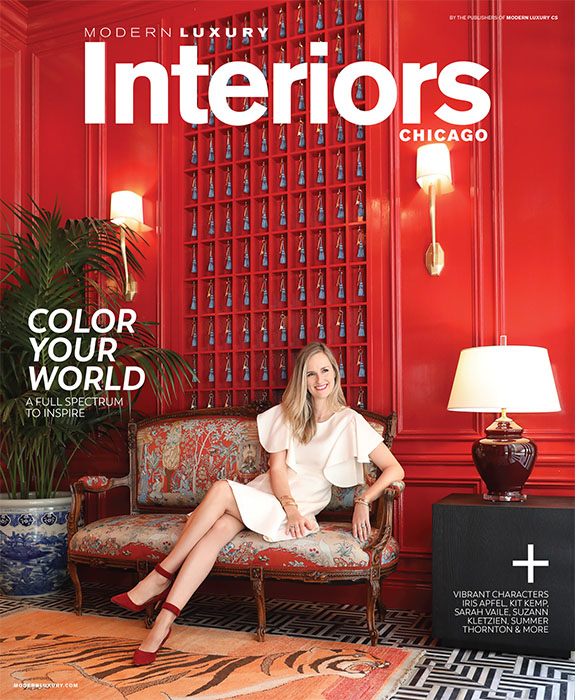 Summer Thornton on the cover of Modern Luxury Interiors in @Properties state street gold coast office