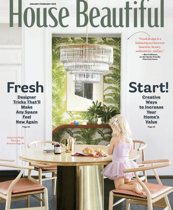 House Beautiful cover January 2019
