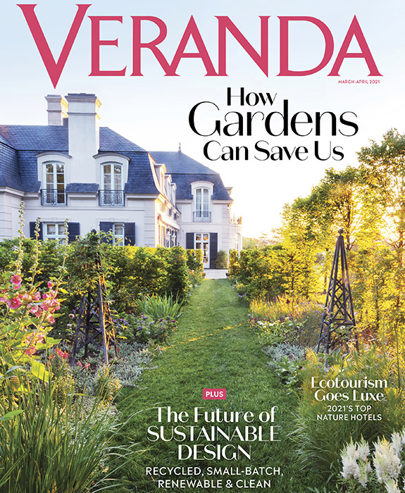 Veranda magazine cover march april 2021 featuring Summer Thornton