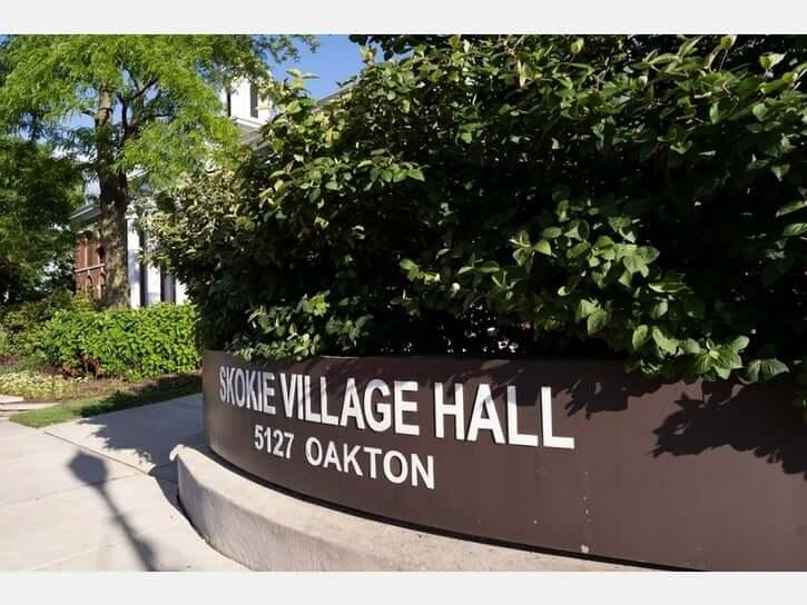 Skokie Village Hall Sign