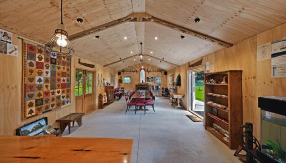 Inside the studio at Glenlothian Farm