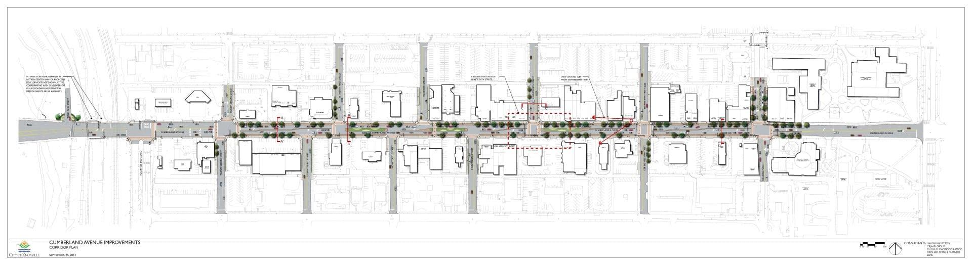 Rendering of the Cumberland Avenue Corridor Plan