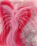 Wisdom of the Angels - Angel of Recovery pastel painting