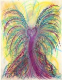 Wisdom of the Angels - Angel of Health pastel painting