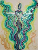 Wisdom of the Angels - Angel of the World pastel painting
