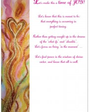 Golden One angel art greeting card