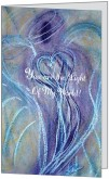 Wisdom of the Angels -, angel art card, Hospice, illness, love, greeting cards, death, dying
