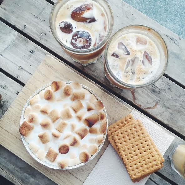 dirty horchata and smores in el union coffee