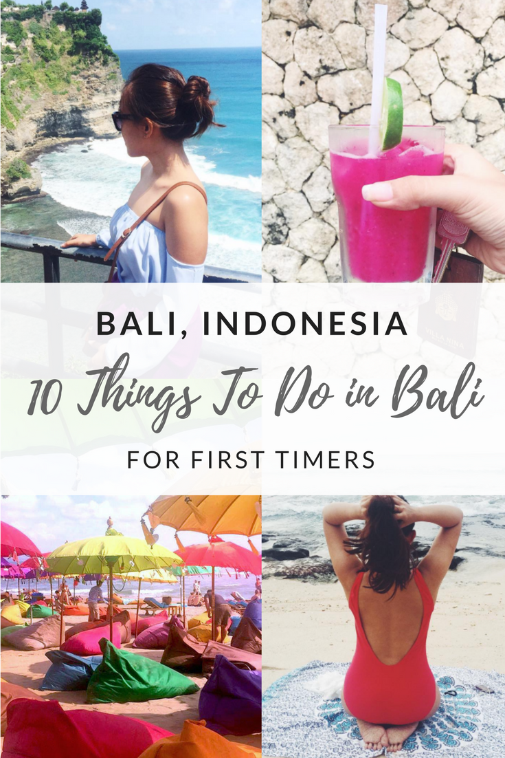 best things to do in bali for firs timer